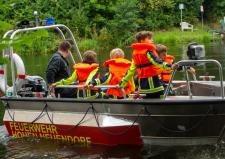 Mehrzweckboot Borgsdorf beim Orientierungslauf